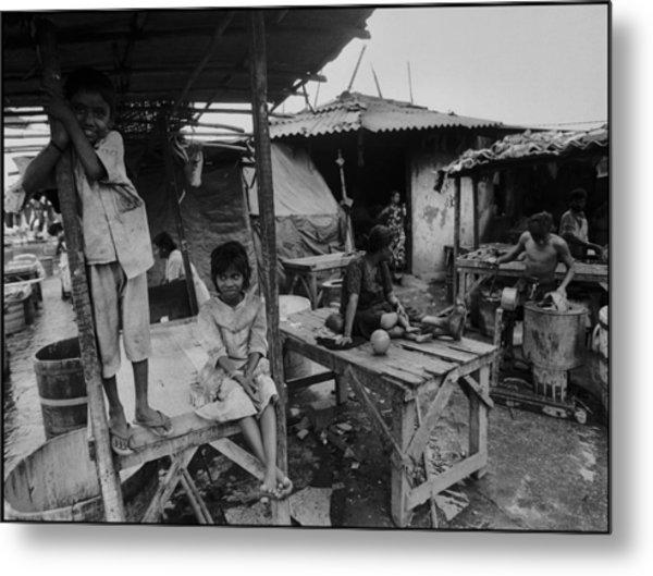 Mumbai - Dhobi Ghats 2 Metal Print by Urs Schweitzer