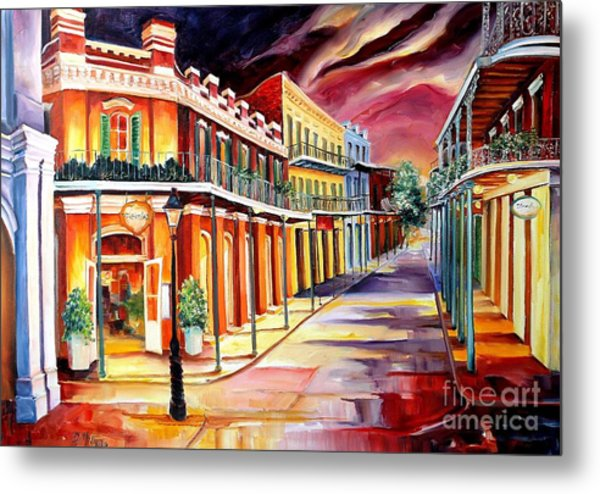 5a4b4cb6a4f Metal Print featuring the painting Muriel s In The French Quarter by Diane  Millsap