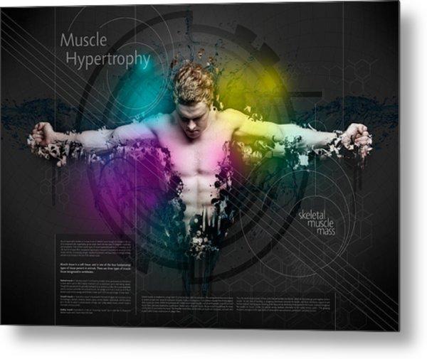 Muscle Hypertrophy Metal Print