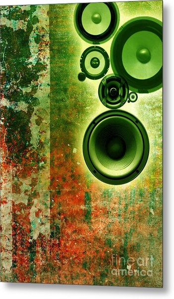 Music Background Metal Print by Christophe ROLLAND