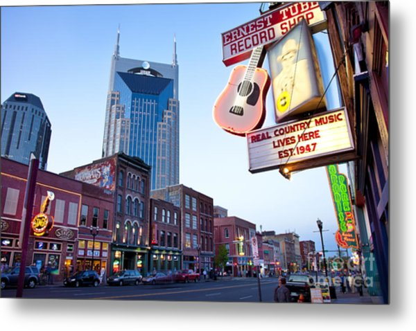 Metal Print featuring the photograph Music City Usa by Brian Jannsen