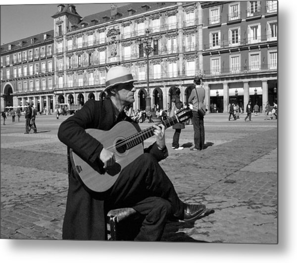 Music-guitarist Metal Print