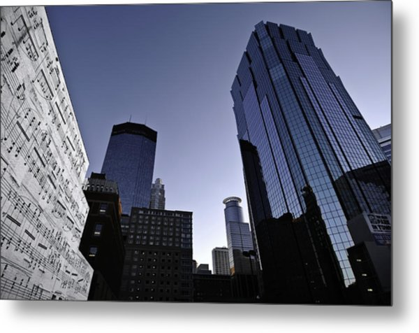 Music In The City Metal Print