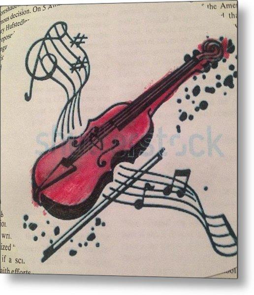 #music #instrument #painting #paint Metal Print