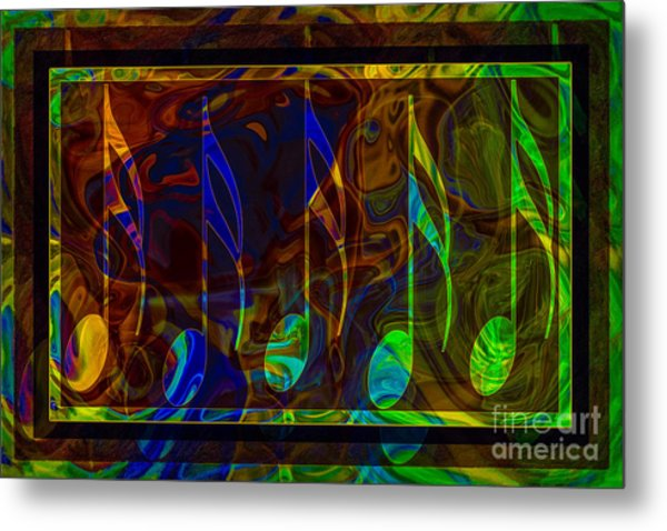 Music Is Magical Abstract Healing Art Metal Print