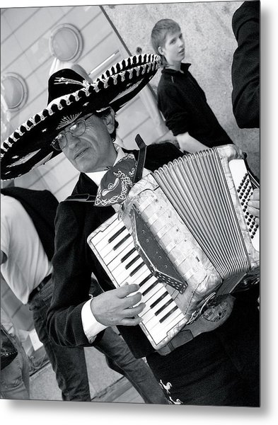 Music-mariachi Accordionist Metal Print