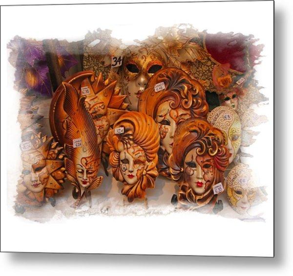 Music Masks Metal Print