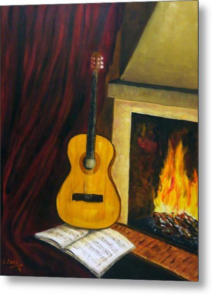 Music Warms The Soul Metal Print