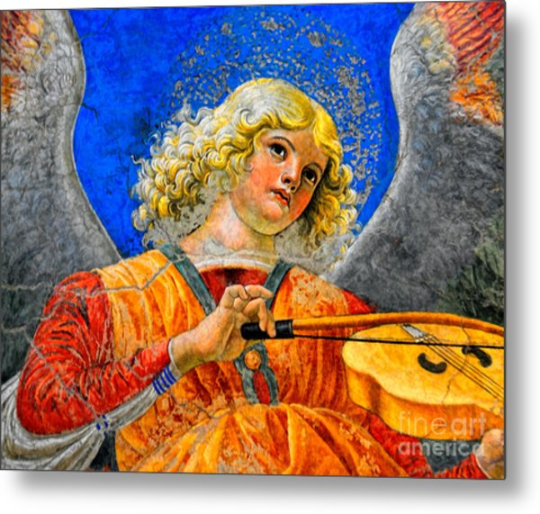 Musical Angel Basking In The Light Of Heaven 2 Metal Print