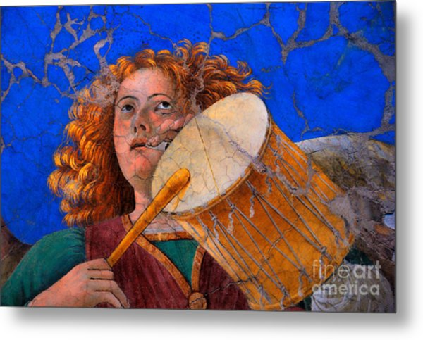 Metal Print featuring the photograph Musical Angel Basking In The Light Of Heaven by Nigel Fletcher-Jones