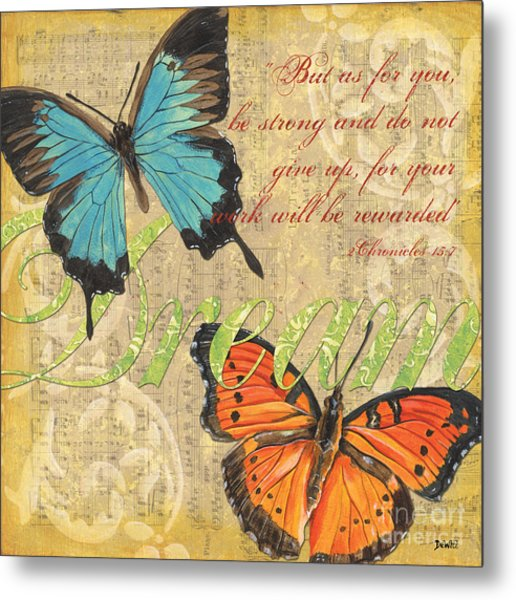 Musical Butterflies 1 Metal Print