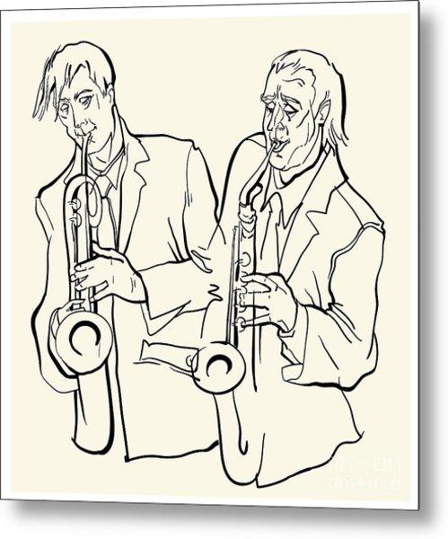 Musicans Of Jazz. Vector Illustration Metal Print