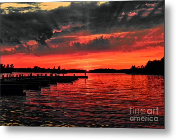 Muskoka Sunset Metal Print