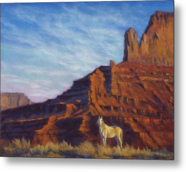 Mustang Ridge Monument Valley Az Metal Print
