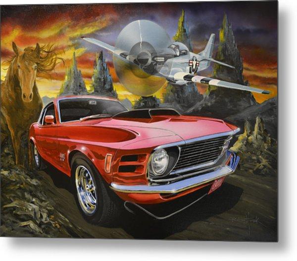 Mustangs 3 Metal Print