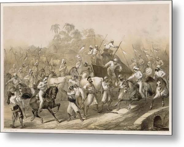 Mutineers Surprised By Her  Majesty's Metal Print by Mary Evans Picture Library