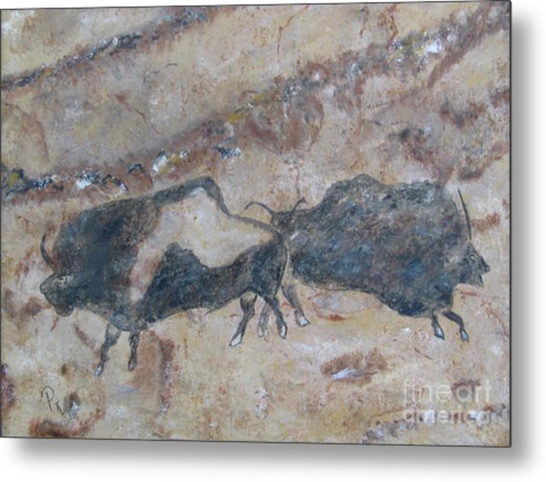 My Bison Lacaze Cave Painting Metal Print
