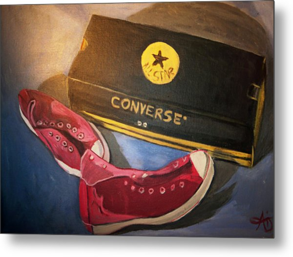 My Chucks - Pink Converse Chuck Taylor All Star - Still Life Painting - Ai P. Nilson Metal Print