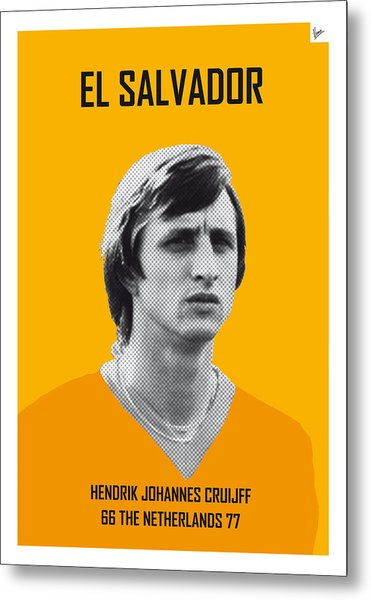 My Cruijff Soccer Legend Poster Metal Print