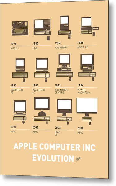 My Evolution Apple Mac Minimal Poster Metal Print