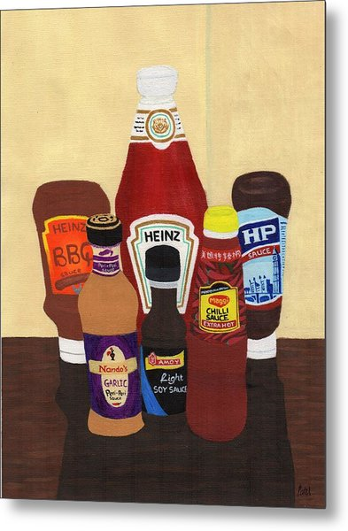 My Favourite Sauces Metal Print by Bav Patel
