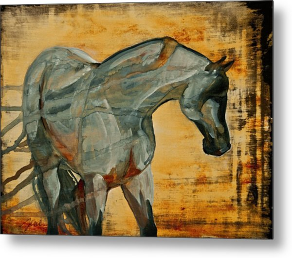 Metal Print featuring the painting My Final Notice  by Jani Freimann