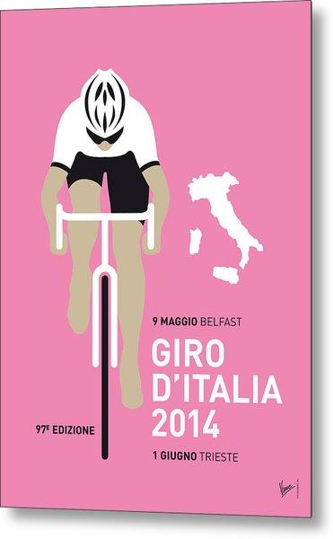 My Giro D Italia Minimal Poster 2014 Metal Print