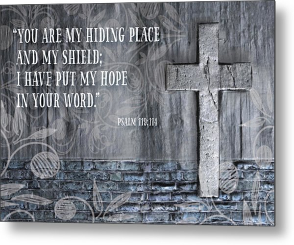 My Hiding Place Metal Print