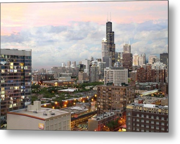 My Home Town Chicago Metal Print