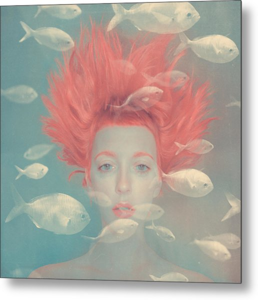 My Imaginary Fishes Metal Print