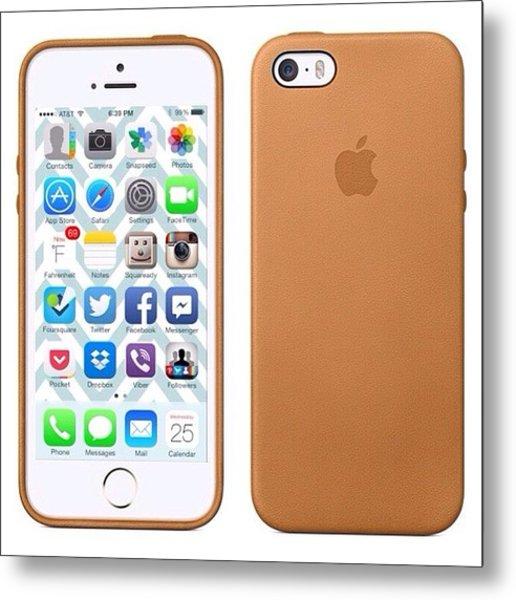 My #iphone5s Setup #apple #case #gold Metal Print