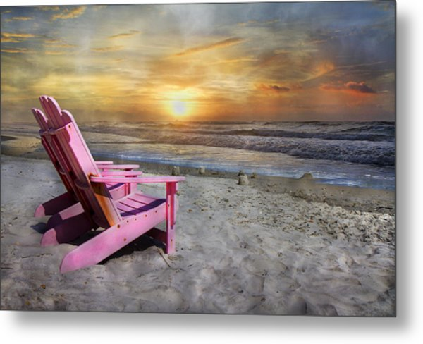 My Life As A Beach Chair Metal Print