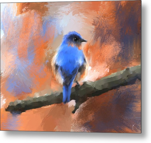 My Little Bluebird Metal Print
