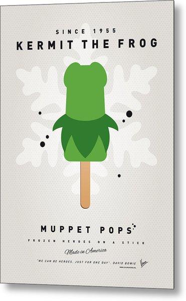 My Muppet Ice Pop - Kermit Metal Print