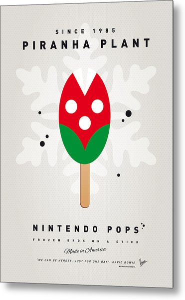 My Nintendo Ice Pop - Piranha Plant Metal Print