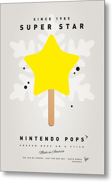 My Nintendo Ice Pop - Super Star Metal Print