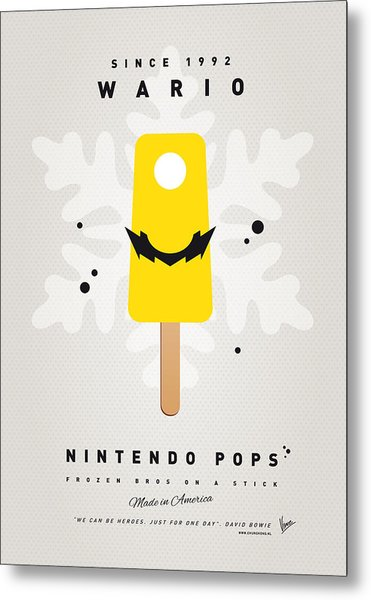 My Nintendo Ice Pop - Wario Metal Print
