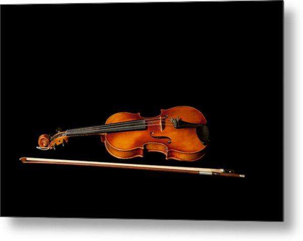 My Old Fiddle And Bow Metal Print
