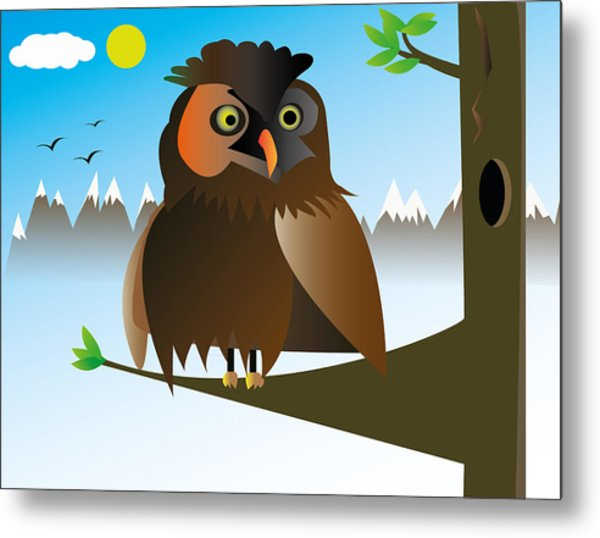 My Owl Metal Print by Kenneth Feliciano