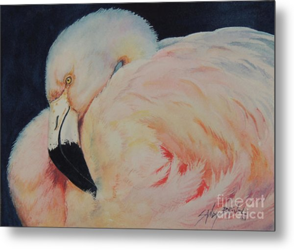 My Pink Flamingo...sold  Metal Print