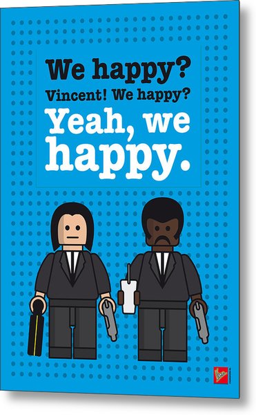 My Pulp Fiction Lego Dialogue Poster Metal Print