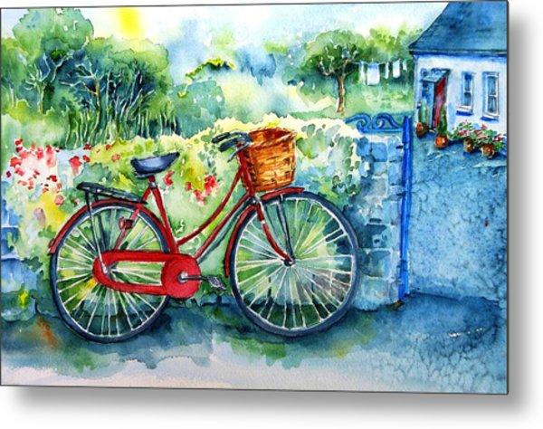 My Red Bicycle Metal Print