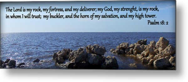 My Rock My Fortress Metal Print