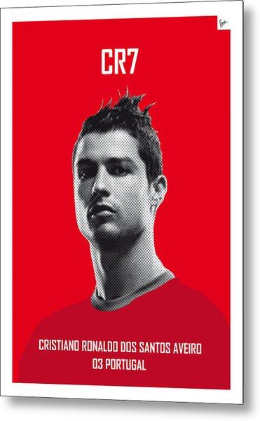 My Ronaldo Soccer Legend Poster Metal Print