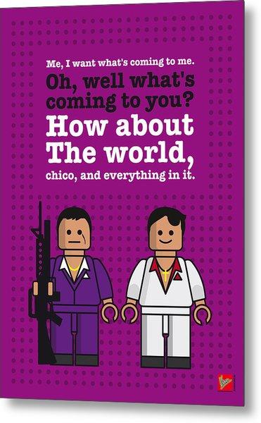 My Scarface Lego Dialogue Poster Metal Print