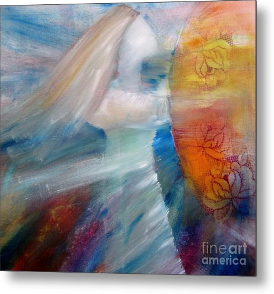 Metal Print featuring the painting My Shield by Deborah Nell