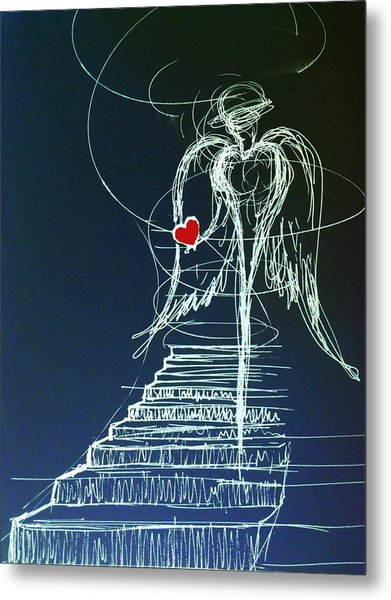 My Soul Awaits With Love At Hand Metal Print