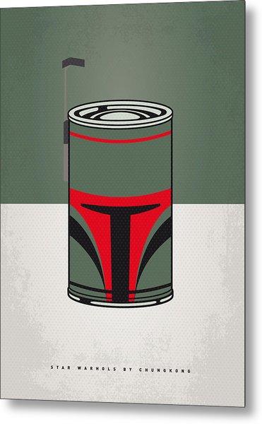 My Star Warhols Boba Fett Minimal Can Poster Metal Print