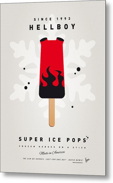 My Superhero Ice Pop - Hellboy Metal Print