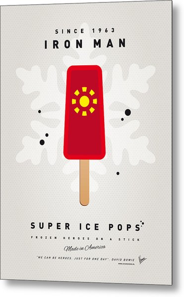 My Superhero Ice Pop - Iron Man Metal Print